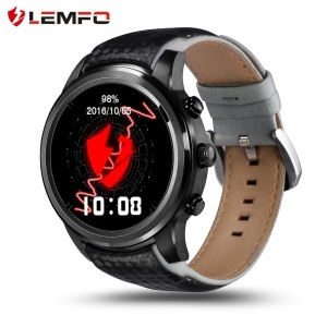 LEMFO LEM5 3G Smartwatch Phone 1.39 inch Android 5.1 Quad Core Support Heart Rate Monitor etc. - Black