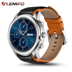 LEMFO LEM5 1.39 inch Android 5.1 Quad Core IP55 Waterproof 3G Smartwatch Phone 1GB+8GB - Silver Color
