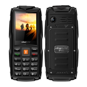 "VKWORLD Stone V3 New Version 2.4"" 2MP Waterproof / Dropproof / Dustproof 2G Mobile Phone - Black"