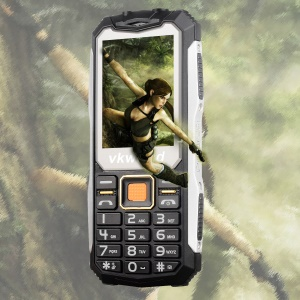 VKWORLD Stone V3S 2.4 inch Waterproof / Dropproof / Dustproof 2G Physical Keypad Feature Phone - Black