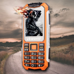 "VKWORLD Stone V3S 2.4"" 0.3MP Waterproof / Dropproof / Dustproof 2G GSM Feature Phone - Orange"
