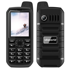 VKWORLD Stone V3 Plus 2.4 Inch 0.3MP IP54 Splash-proof / Dropproof / Dustproof 2G Mobile Phone - Black