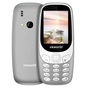 VKWORLD Z3310 2.4 Inch 3D Screen 1450mAh 2MP FM Dual Sim Card Dual Standby Mobile Phone - Grey