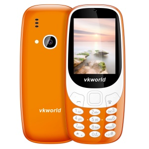 VKWORLD Z3310 2.4 Inch 3D Screen 2MP FM Dual Standby Physical Keypad Feature Phone - Orange