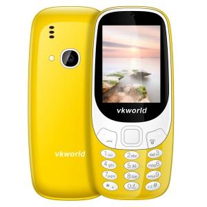 VKWORLD Z3310 2.4 Inch FM Dual Sim Card Dual Standby Physical Keypad Feature Phone - Yellow