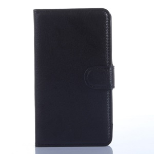 Lychee Texture Leather Magnetic case for Meizu MX4 w/ Stand - Black