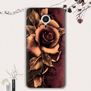 Softlyfit Embossment TPU Mobile Phone Case for Meizu M3 Note - Gothic Rose