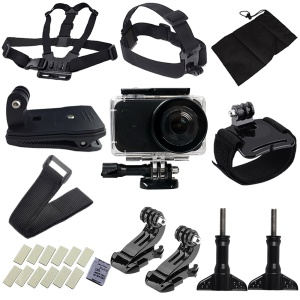 XIAOMI MIJIA 26 in 1 Accessories Set for Xiaomi Mijia Mini 4K Action Camera (Waterproof Case, Straps, Mounts etc)
