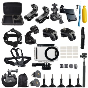 50 in 1 Accessories Kit with Floating Hand Grip, Extendable Self-timer Monopod for Xiaomi Mijia 4K Mini Action Camera