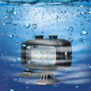 30M Waterproof Diving Light Rechargeable Dimmable LED Lamp for GoPro / SJCAM / Xiaoyi etc.