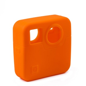 Durable Silicone Protective Housing Cover for Gopro Fusion - Orange