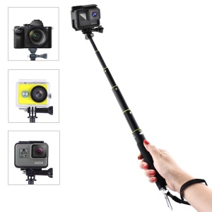 7.1-31.5 Inch Extendable Selfie Stick for GoPro Hero 5/4/3 etc. with Remote Clip Mount