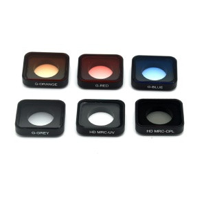 Camera Lens Cover Protectors with Half Graduated Color Filter Lens + UV Lens + CPL Lens for GoPro Hero 6/5