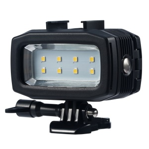 8-LED Underwater 30m 700LM Diving Lamp Waterproof LED Video Light Lamp for GoPro Sports Camera