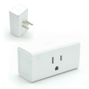AE05 Square Shaped WiFi Smart Phone APP Remote Control Timer Switch Power Socket - White / US Plug