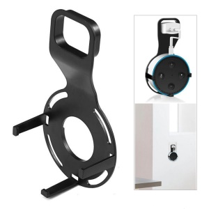 AE03 Wall Mount Bracket Holder with Hook for Amazon Echo Dot 2nd Generation - Black
