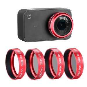 AT-M25 4-in-1 ND4 + ND8 + CPL + UV Lens Filter Kit for Xiaomi Mi Mijia Mini Action Camera