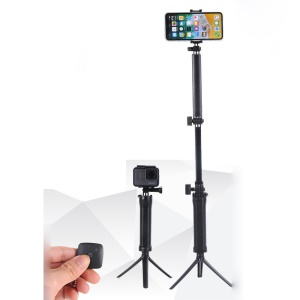 3-Way Hand Grip Arm Bluetooth Selfie Stick Tripod Mount Waterproof Monopod for GoPro 6/5/4+/3+ etc.