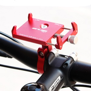 AT759 GUB PRO1 Cell Phone Holder Aluminum Alloy Bicycle Bike Handlebar Holder Mount, Clamp Size: 50-100mm - Red