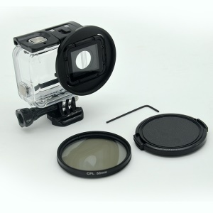 AT662 58mm CPL Lens Filter Kit for GoPro Hero 5 Black /Hero 6 Waterproof Case Protective Housing