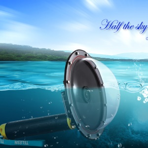 TELESIN Waterproof Housing Diving Mask Diving Dome Port for GoPro Hero 6/5