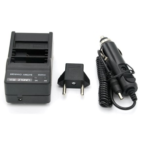 LINGLE AT669 Dual Battery Travel Charger(with EU Plug Convertor) + Car Charger for GoPro Hero 6/5 - US Plug