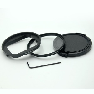 AT663 58mm UV Filter with Lens Cap and Adapter for GoPro Hero 5 / Hero 6 Waterproof Housing Case