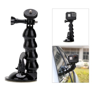 Adjustable Suction Cup Goose Neck Bracket Set for GoPro, SJCMA, Xiaomi Yi and Smartphones