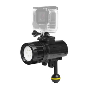 SHOOT XTGP460 1500 Lumen Waterproof 60m Rechargeable Underwater Diving Torch Flashlight Dimmable Light for GoPro Action Camera