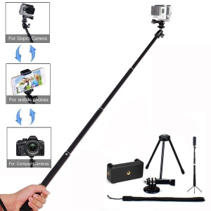 LDX-801 Extendable Hand Grip Monopod Adjustable Pole Handle for Action Camera
