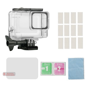 For GoPro Hero7 Silver / White IP70 Waterproof Housing Case + Anti Fog Inserts + Tempered Glass Set