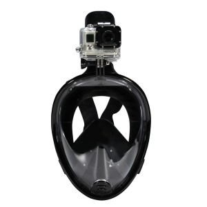 NEOPINE 180-degree Full Face Snorkel Mask for GoPro Xiaomi Yi Camera Diving Set - Black / L/XL