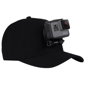PULUZ PU195 Sports Camera Hat for Gopro Accessories Adjustable Cap with Screws and J Stent Base for GoPro Camera - Black