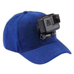 PULUZ PU195 Sports Camera Hat for Gopro Accessories Adjustable Cap with Screws and J Stent Base for GoPro Camera - Blue