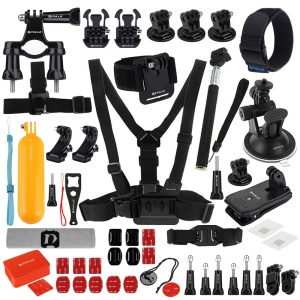PULUZ PKT16 53 Em 1 Go Pro Accessories Total Kit Combo Final Para Gopro