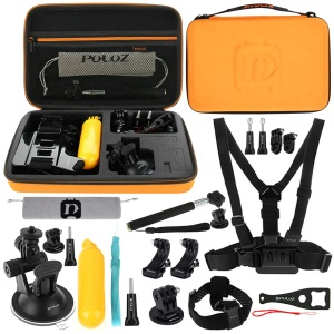 PULUZ PKT30 20 in 1 Camera Accessories Combo Kit for GoPro Hero 4/3+/3/2/1 SJ4000/5000/6000/Xiaomi Yi