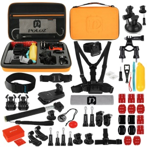 PULUZ PKT26 53 in 1 Portable Action Set Mount for GoPro Hero 4/3+/3/2/1 SJ4000/5000/6000/Xiaomi Yi