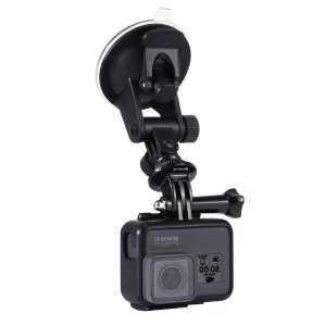 PULUZ PU51 Car Suction Cup Mount with Screw Tripod Mount Adapter Storage Bag for GoPro Hero 7/6/5, DJI OSMO Action Camera