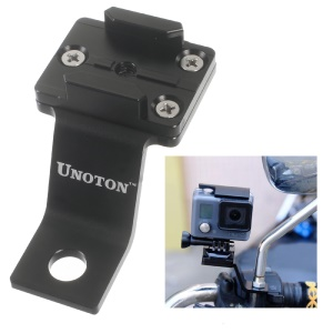 UNOTON Fixed Metal Motorcycle Mount Holder for GoPro HERO 4/3+/3/2/1/SJ4000/SJ5000 - Black