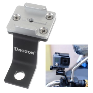UNOTON Fixed Metal Motorcycle Mount Holder for GoPro HERO 4/3+/3/2/1/SJ4000/SJ5000 - Silver Color