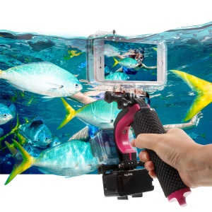 Diving Photography Kit with Floating Bobber, Waterproof Case for iPhone 6s 6, Video Light - Rose