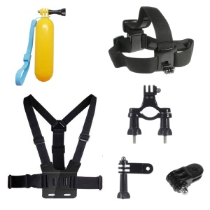 6 in 1 Accessories Kit with Floating Hand Grip, Chest Belt for GoPro Hero 4/3+/3/2/1 SJ4000/5000/6000/Xiaomi Yi