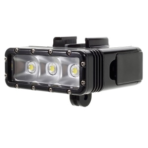 SUPTIG Dual Battery Diving Light Compensation LED Light for GoPro/Xiaoyi Yi/SJ Action Camera