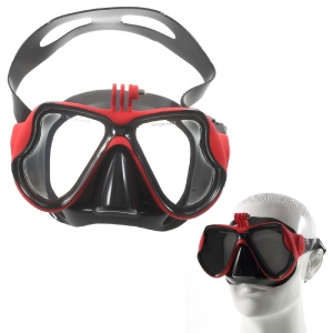 Scuba Snorkel Swimming Goggles with Camera Mount for GoPro Hero 4/3+/3/2/1 SJ4000/SJ5000 etc - Red