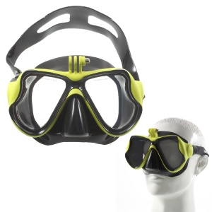 Diving Mask Scuba Goggles Glasses with Camera Mount for GoPro Hero 4/3+/3/2/1 SJ4000/SJ5000 etc - Yellow