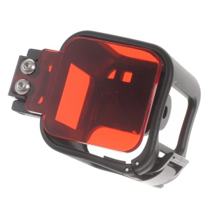AT559 Protection Case Frame with Red Diving Filter Lens for GoPro Hero4 Session - Black