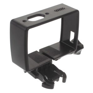 Plastic Frame Housing Case for Xiaoyi 4K Action Camera - Black