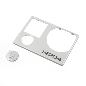 OEM Front Faceplate Cover for GoPro Hero4 Black and Silver Edition + Power/Mode Button Cover