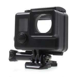 Touchable Screen Waterproof Housing Case for GoPro Hero4 Silver Color Edition - Black