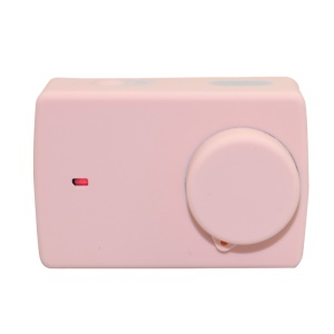 Silicone Protective Cover with Lens Cap for Xiaoyi II 4K Sport Camera - Rose Gold Color
